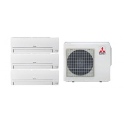 MITSUBISHI ELECTRIC MXZ-3HA50VF +3x MSZ-HR25VF STAFFE IN OMAGGIO!